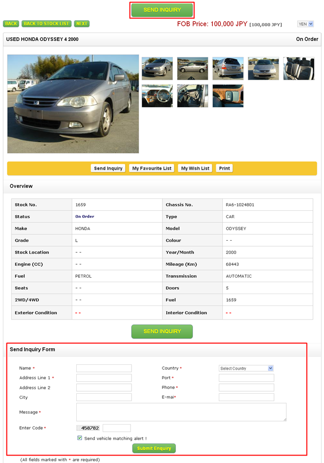 How to buy used cars from Japan OS NETWORK COLTD – Vehicle Order Form